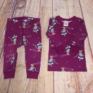 Hanna Andersson winter mouse pajamas 6-12m